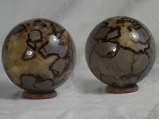 boule sphère en septaria diametre 9.5 cm pour  1260 gr de Madagascar e4