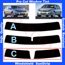 Pre Cut Window Tint Sunstrip for Opel Astra H 5 Doors Hatchback 04-09 Any Shade
