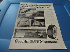 """1940 Goodrich Tires Vintage Magazine Ad """"High Jumps and Hair-Raising stops..."""""""