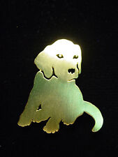 """JJ"" Jonette Jewelry Gold Pewter 'Adorable Silhouette Dog' Pin"