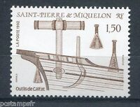 ST-PIERRE-et-MIQUELON, 1992, timbre 561, BATEAU, OUTILS et COQUE, neuf**