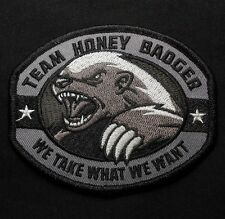 TEAM HONEY BADGER US ARMY ISAF MORALE COMBAT SWAT VELCRO® BRAND FASTENER PATCH