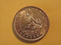 1951 Bolivia 1 Boliviano coin  sweet classic coin uncirculated beauty, animal