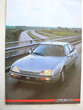Prospectus  CITROEN   CX     1986    Brochure Prospekt  Catalogue car