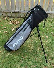 Mizuno Golf Pencil Bag / Carry Golf Bag w/ Stand - Black/Silver