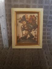 Vintage Original Hummel Art Print Signed Framed Marked Made in Western Germany