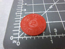 Vintage Colorado red plastic State Sales Tax Token Coin , 2 mill, fun item