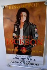 Michael Jackson1997 HIStory World Tour Hawaii Poster-original-RARE +1WRISTBAND