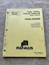 Fiat Allis Allis Chalmers 745 Wheel Loader Power Steering Service Manual