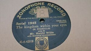 HAROLD WILDE THE KINGDOM WITHIN YOUR EYES & EGYPT I'M CALLING YOU ZONOPHONE 1945