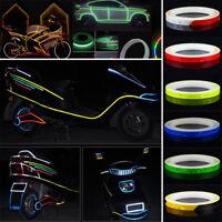 Rad Reflektierende Aufkleber Felge Leuchtend Warn Band Diy für Motorrad Auto