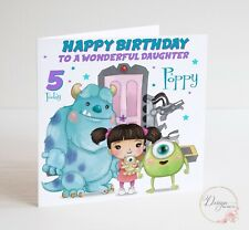 MONSTERS INC BIRTHDAY Card - Girl Boy - SULLY MIKE BOO