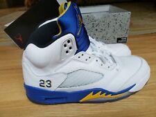 best website bdd9e f9480 Nike Air Jordan V 5 Laney Sz. 9 - Retro WHITE ROYAL BLUE MAIZE BLACK
