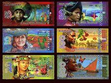SET Equatorial Territories, 5;10;20;50;100;500 E. Francs, 2014-2015 POLYMER, UNC