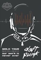 "Daft Punk 13"" X 19"" Reproduction Concert Poster archival quality"