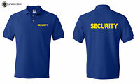 Security  Polo T-shirts Event Bouncer Staff Party Guard Tees S-5XL Hanes