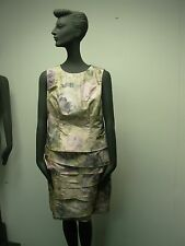 WORTH NEW YORK PINK LAVENDER FLORAL SLEEVELESS DRESS SIZE 8 PETITE