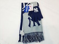 New York Yankees Scarf And Gloves New MLB Baseball NY Fan Show Your Fan Pride