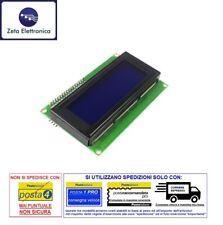 DISPLAY LCD 20x4 BLU RETROILLUMINATO LED 2004 + MODULO II2 / I2C SERIALE ARDUINO