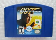 007 The World Is Not Enough Nintendo 64 Blue Game Cart N64 James Bond Authentic