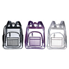 See Through Clear PVC Backpack Transparent Bag Concert Safety College