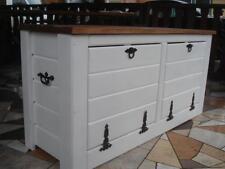 Massive handgemachte Holzkiste Truhe Box Holz Aufbewahrung Antik Dekoration JL5