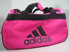 adidas Diablo Small Duffel Women Solar Pink black Gym Bag Luggage Fits in  Locker 9179f1dc49cb8