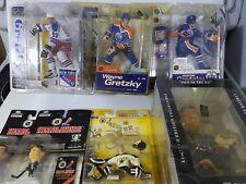 lot 7 hockey figurines 3 gretzky mcfarlane 2 headliner richter selanne belfour