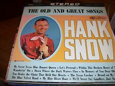 HANK SNOW THE OLD AND GREAT SONGS -LP-NM-RCA CAMDEN-STEREO