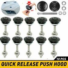2 10x Push Button Quick Release Hood Bonnet Pins Lock Clip Car Bumper Latch Kit