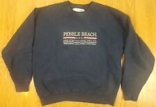 Vintage Pebble Beach 1998 At&T National Pro Am Embroidered Sweater Size Medium