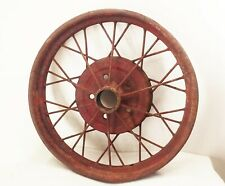 "Vtg antique original model T A ford 21"" wire spoke wheel rim 5 lug 1927 1928 29"
