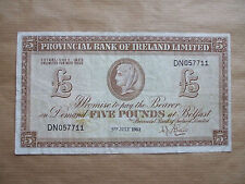 PROVINCIAL  BANK  OF  IRELAND  £5  NOTE,  1963.