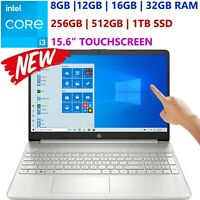 "NEW HP Laptop 15.6"" Touch- 11th Gen Intel Core i3- Upto 32GB RAM & 1 TB SSD-HDMI"