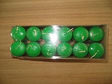 Stumpenkerzen grün, 4 x 6 cm, 12 Stück