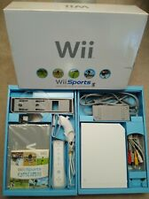 Nintendo Wii Console Bundle w/ Wii Sports Included in Original Box ~ Barely USED