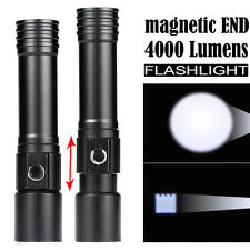 Zoomable Magnetic Q5 LED Aluminum Waterproof Flashlight Torch Light Lamp 18650