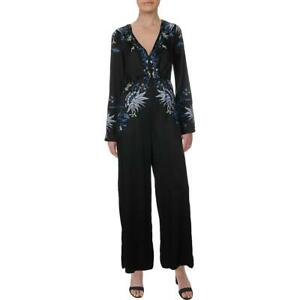 Free People Womens Gypsy Rose Embroidered V-Neck Long Sleeves Jumpsuit BHFO 2389
