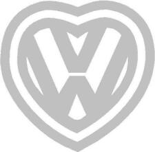 V Dub Vee Dub Love Luv Heart Logo Sticker Decal Graphic Vinyl Label V2 Silver