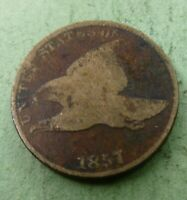 1857  Flying Eagle Penny  Nice Coin  #FL57