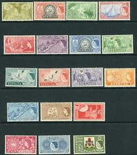 BERMUDA-1953-62  A mounted mint set to £1 Sg 131-150