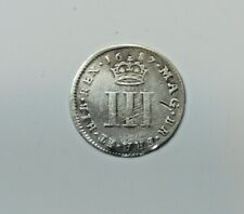 GREAT BRITAIN : MAUNDY THREEPENCE 1687. JAMES 11.   0.925 SILVER.   KM 450