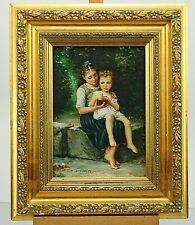 Antikes Bild Öl auf Holz Signiert DE GREEF  874/2