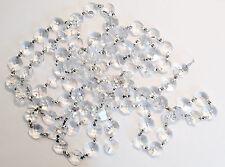 Asfour Chrome Clear Crystal Garland, Octagon Cut Crystal Chain, 14mm CCI
