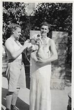 Pit Bull Vintage Photo Two Men One Holding Whitie Pit Bull