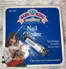 Baby King Vintage Infant-Baby Nail Clippers! From 1991! Nos-Nip! Rare!