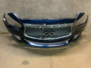 2013 2014 2015 Infinti JX35 QX60 Front Bumper With Grille W/Camera Blue OEM