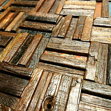 Wood Wall Tiles, Wall Panels, Wall Decorative Tiles, Reclaimed Old Boat, Rustic