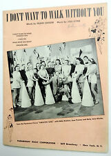 Film Sheet Music I DONT WANT TO WALK WITHOUT YOU Sweater GIRL '42 STYNE MANILOW