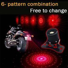 LED Laser Fog Brake Rear Warning Lamp Anti-Collision Tail light Car Motorcycle